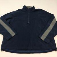 Old Navy Fleece Jacket Mens 2XL XXL Navy Half Zip Mock Neck Insulated Pockets