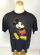 Vtg 80s Waxed Cotton California Mickey Surf T Shirt Big Logo Distressed Worn XXL