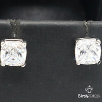 1CT Princess Lab Diamond Earrings Women Anniversary Jewelry 925 Sterling Silver