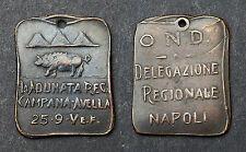 Jeton La Franc-maçonnerie Italienne. Napoli. Bronze