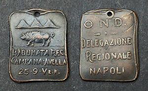 Franc-maçonnerie Italienne. Napoli. Bronze
