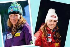 Mikaela shiffrin - 2 top autógrafo-imágenes (9) - Print copies + ski ak firmado