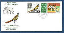 Cote d' Ivoire grande  enveloppe  1er jour  Philexafrique  oiseau faisan    1978