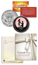 ENGAGEMENT CONGRATULATIONS Gift Keepsake JFK Kennedy Half Dollar US Coin
