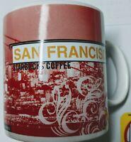 Starbucks1999  San Francisco Cable Car, Golden Gate Bridge 20 OZ Coffee Mug