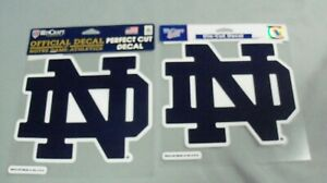 Notre Dame, Perfect Cut Decals (2), Both Larger, Similar & Blue/White in Color