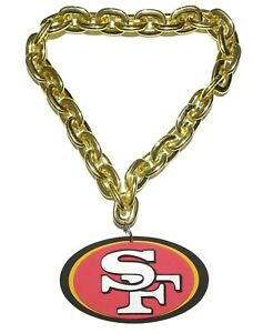 NFL San Francisco 49ers 3D Fan Chain Necklace Foam Magnet (Gold Chain)