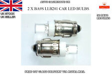 2 X LED LUCAS TYPE BA7s LLB281 DASHBOARD LIGHTS BULBS BRIGHT WHITE LAMPS 12V DC