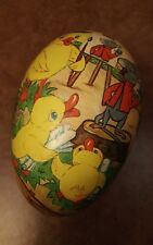 Rare Antique German Germany Paper Mache Easter Candy Container Egg Ducks 9 Inch