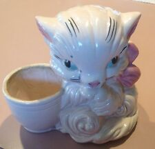 Vintage Hull Art U.S.A. #61 Pink Cat Planter in Good Condition - Heavy