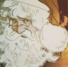 """FALL 2 SALE!   ANDY WARHOL Lithograph by CMOA """"Santa Claus"""" Plate Signed/Pencil"""