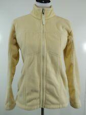 Patagonia Synchilla Womens Sz Medium Fleece Jacket Light Yellow Full Zip Pockets