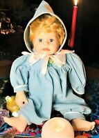 Meet Riley Our Spirited Vintage Worry Wart Real Feeling Baby Boy Handless Doll