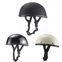 DOT Motorcycle Helmet Half Face Lightweight ABS Skull Cap Motorbike Scooter