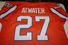 STEVE ATWATER #27 SEWN STITCHED THROWBACK JERSEY SIZE XLG ORANGE