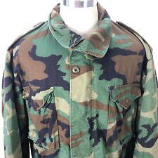 Vintage ALPHA INDUSTRIES Field Jacket XXL Men Camouflage Coat USA SCOVILL ZIPPER