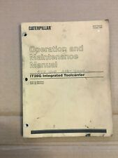 Caterpillar IT28G Wheel Loader Operation and Maintenance Manual