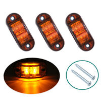 KE_ 12/24V Auto Car Waterproof Side Marker Signal Light Truck Trailer LED Lamp
