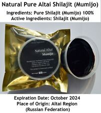 SALE!! Altai Shilajit 3.53oz (100 gms) in Jar,Pure Authentic Mumijo,Moomiyo Gold