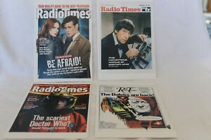 Doctor Who Postcards x 4 Radio Times Covers