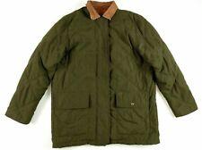 Ralph Lauren Dry Goods Womens Quilted Equestrian Horse Jacket Medium Green