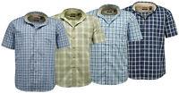 Mens Wrangler Short Sleeve Casual Check Shirt   Wrinkle Resist