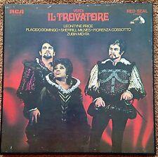 3 LP Verdi Il Trovatore - Price, Domingo, Milnes, Cossotto, Mehta, RCA LSC-6194