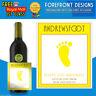 Personalised White wine bottle label, Perfect Birthday/Wedding/Graduation Gift