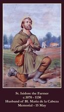 St Isidore the Farmer Prayer CARD (wallet size)