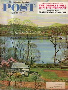 1961 Saturday Evening Post April 15 - Baltimore Orioles; Ireland; Civil War;