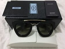 Prada ornate Cat eye sunglasses - saffiano leather, luxury edition