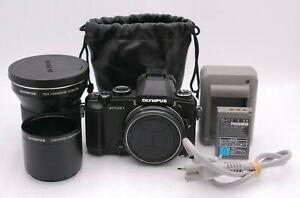 [Near Mint] OLYMPUS STYLUS 1 12.0MP Digital Camera + TELE CONVERTER TCON-17X
