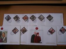 10 DIFFERENT ROYALTY LIFETIME OF SERVICE,FDCs,VARIOUS COUNTRIES,EXCELLENT.