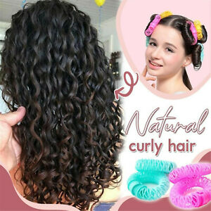 8Pcs / Set Curlers Spiral Curly Hair Magic Ringlets Hairstyle Curlers Girls Kit