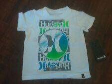 HURLEY  BOY'S INFANT'S  KIDS LOGO WHITE T-SHIRT  **NEW**  SIZE 12M