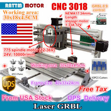 US SHIP 3 Axis 3018 Mini DIY CNC Router PCB/Wood Carving Engraving Laser Machine