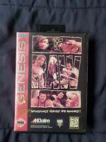 WWF Raw (Sega Genesis, 1994) TESTED NO manual