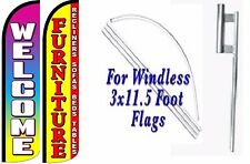 Furniture Welcome Windless Swooper Flag With Complete Kit Pack of 2