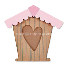 Fustella 4 fustelle thinlits Casa case casina home cuore Big Shot Sizzix 660808