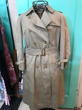 Vintage Burberry Trench Khaki Coat Size 6L