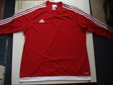 Adidas Red Crew Neck Long Sleeve Top, Size 2XL, 52 Inch Chest.