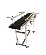 "New Listing47.2"" Pvc Belt Conveyor,7.8"" W Double Guardrail Conveyor Machine Hot Usage"