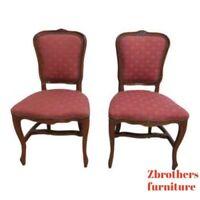 Antique French Regency Carved Dining Room Living Room Desk Side Chair   D