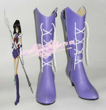 Sailor Moon Sailor Saturn Light Purple Cosplay Long Shoes Boots H016