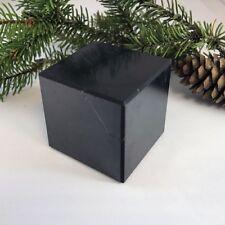 Cube 40x40 mm (1,57 inches) polished shungite