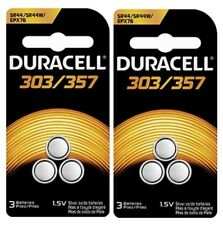 Duracell 357 303 - SR44SW Silver Oxide Button Cell Batteries 6 Pack