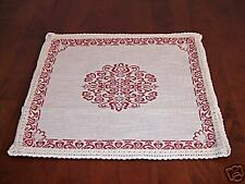 NEW French Chic linen Woven Pillow/Cushion - Red