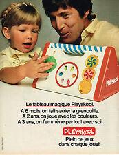 PUBLICITE ADVERTISING 064  1981  PLAYSKOOL  jeux jouets le tableau magique