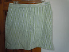 IZOD XGF Cool FX womens casual or golf skorts size 6 green & white striped