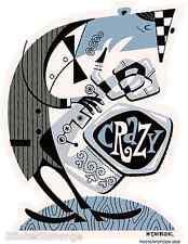Crazy Saxophone Player Sticker Decal Derek Yaniger DY13